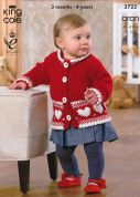 King Cole Baby Jacket, Cardigan & Sweater Comfort Knitting Pattern 3722  Aran