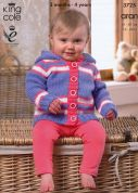 King Cole Baby Jacket, Sweater & Cardigan Comfort Knitting Pattern 3725  Aran