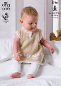 King Cole Baby Dress & Cardigan Comfort Knitting Pattern 3736  DK