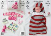 King Cole Baby Boleros, Snuggle Bag, Hat & Booties Comfort Knitting Pattern 3742  DK
