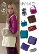 King Cole Handbags & Cushions Krystal Knitting Pattern 3753  Chunky