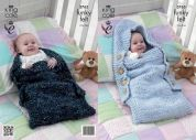 King Cole Baby Sleeping Bags Knitting Pattern 3765