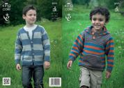 King Cole Boys Top & Hoodie Merino Knitting Pattern 3771  DK