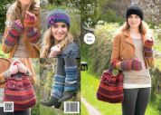 King Cole Ladies & Girls Hat, Bag, Leg & Wrist Warmers The Ultimate Knitting Pattern 3779  Super Chunky