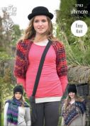 King Cole Ladies Wrap, Scarf & Shrug The Ultimate Knitting Pattern 3783  Super Chunky