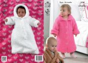 King Cole Baby Dressing Gown & Sleeping Bag Cuddles Knitting Pattern 3788  Chunky