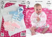 King Cole Baby Jackets & Blanket Cuddles Knitting Pattern 3789  Chunky