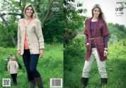 King Cole Ladies Cardigan & Coat Moorland Knitting Pattern 3798  Aran