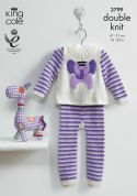 King Cole Baby Picture Sweater & Leggings Comfort Knitting Pattern 3799  DK