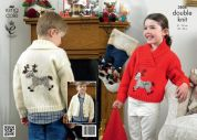 King Cole Childrens Christmas Sweaters Pricewise Knitting Pattern 3806  DK