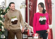 King Cole Ladies & Mens Christmas Sweaters Glitz Knitting Pattern 3810  DK