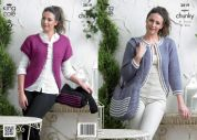 King Cole Ladies Cardigans & Bag Big Value Knitting Pattern 3819  Super Chunky