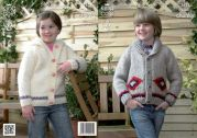 King Cole Childrens Jackets Big Value Knitting Pattern 3821  Super Chunky