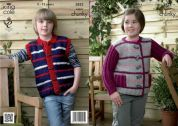 King Cole Childrens Jacket & Gilet Big Value Knitting Pattern 3822  Super Chunky