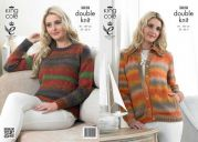 King Cole Ladies Cardigan & Sweater Country Tweed Knitting Pattern 3828  DK