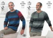 King Cole Mens Sweaters Country Tweed Knitting Pattern 3830  DK