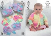 King Cole Baby Cardigans & Sweater Melody Knitting Pattern 3842  DK