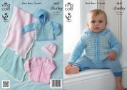 King Cole Baby Jackets, Blanket & Hat Big Value Knitting Pattern 3857  Chunky