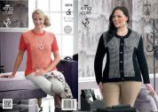 King Cole Ladies Jacket & Sweater Merino Knitting Pattern 3878  DK