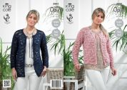 King Cole Ladies Cardigans Opium Knitting Pattern 3882