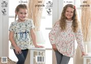 King Cole Girls Tunic & Top Popsicle Knitting Pattern 3892