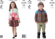 King Cole Childrens Jackets & Hat Big Value Knitting Pattern 3907  DK