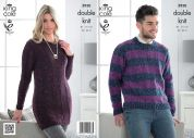 King Cole Ladies & Mens Sweater & Tunic Moods Knitting Pattern 3930  DK