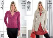 King Cole Ladies Jacket & Sweater Moods Knitting Pattern 3933  DK