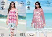 King Cole Ladies Tunic Top & Dress Bamboo Cotton Crochet Pattern 3938  4 Ply