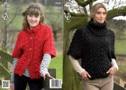 King Cole Ladies & Girls Sweater & Cardigan Fashion Knitting Pattern 3958  Aran