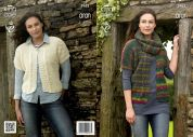 King Cole Ladies Cardigans Knitting Pattern 3962  Aran