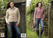 King Cole Ladies & Girls Jackets Fashion Knitting Pattern 3966  Aran