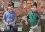 King Cole Boys Sweaters Big Value Knitting Pattern 3977  Aran