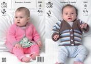King Cole Baby Cardigans Comfort Knitting Pattern 3985  DK, 4 Ply