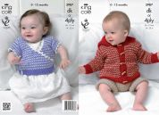 King Cole Baby Jacket, Pants & Cardigan Comfort Knitting Pattern 3987  DK, 4 Ply