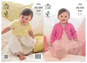 King Cole Baby & Girls Cardigans Glitz Knitting Pattern 3994  DK