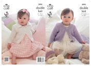 King Cole Baby & Girls Cardigans Glitz Knitting Pattern 3995  DK