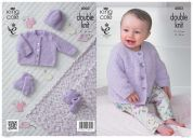 King Cole Baby Cardigan, Hat, Blanket, Booties & Socks Cuddles Knitting Pattern 4002  DK