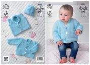 King Cole Baby Cardigan, Waistcoat & Hat Cuddles Knitting Pattern 4004  DK
