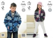 King Cole Childrens Hoodie & Cardigan Big Value Knitting Pattern 4026  Chunky