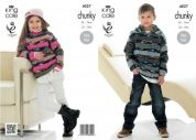 King Cole Childrens Sweater & Hoodie Big Value Knitting Pattern 4027  Chunky