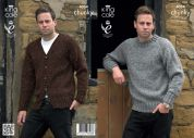 King Cole Mens Sweater & Cardigan Knitting Pattern 4034  Chunky