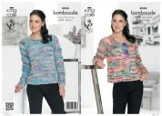 King Cole Ladies Cardigan & Sweater Bamboozle Knitting Pattern 4044  Chunky