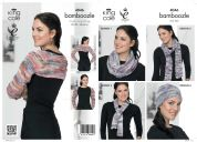 King Cole Ladies Shrug, Hat, Scarf, Snood & Neck Warmers Bamboozle Knitting Pattern 4046  Chunky
