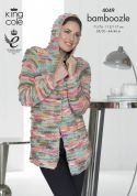 King Cole Ladies Jacket & Waistcoat Bamboozle Knitting Pattern 4049  Chunky