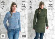 King Cole Ladies Sweaters Gypsy Knitting Pattern 4067  Super Chunky