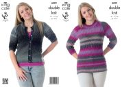 King Cole Ladies Cardigan & Tunic Country Tweed Knitting Pattern 4099  DK