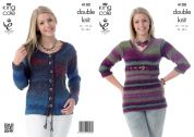 King Cole Ladies Sweater & Cardigan Country Tweed Knitting Pattern 4100  DK
