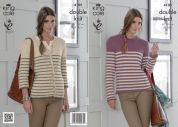 King Cole Ladies Sweater & Cardigan Baby Alpaca Knitting Pattern 4105  DK