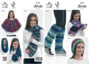 King Cole Ladies Hats, Scarves & Accessories The Ultimate Knitting Pattern 4123  Super Chunky